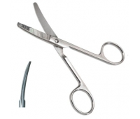 Ножницы изогнутые с одним острым концом длина 14 см