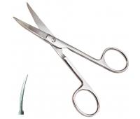 Ножницы остроконечные изогнутые длина 14 см
