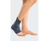 Бандаж для голеностопного сустава с силиконовыми вставками и фиксирующим ремнем