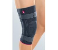 Бандаж для коленного сустава Genumedi plus мягкий с силиконовым кольцом для надколенника и дополнительными ремнями