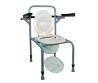 Стул туалетный стальной регулируемый с откидными поручнями НТ-04-004
