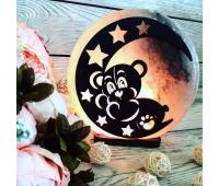 Соляная лампа «Мишка на Луне» 3-4кг