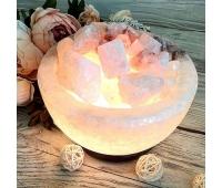 """Соляной светильник """"Чаша огня"""", 3-4 кг"""