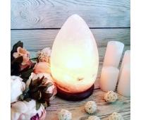 Соляная лампа «Капля» 3-4 кг (цветная лампочка)