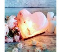 Соляная лампа «Сердце» 4-5 кг (цветная лампочка)