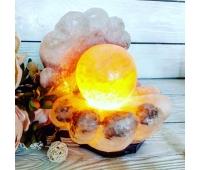 Соляная лампа «Жемчужина» 6-7 кг (цветная лампочка)