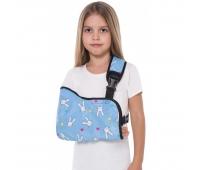 Бандаж для руки поддерживающий косиночна повязка с фиксатором (детский размер) ТИП 611-0