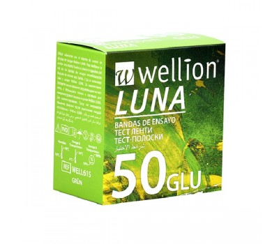 Тест-полоски Wellion Luna Duo, 50 шт.